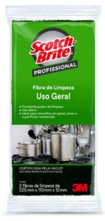 3M - FIBRA LT SCOTCH BRITE USO GERAL 102 X 260 MM - UN