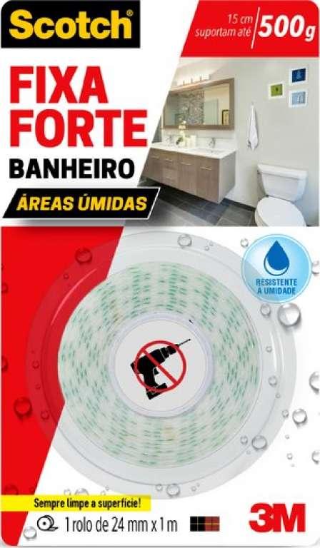 3M - FITA FIXA FORTE BANHEIRO 24MMX1,0M - UN