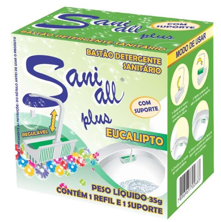 ADESUL - BASTAO SANITARIO EUCALIPTO C/ SUPORTE 35G - CX.4X12UN