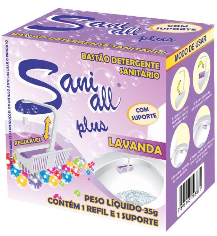 ADESUL - BASTAO SANITARIO LAVANDA C/ SUPORTE 35G - CX.4X12UN