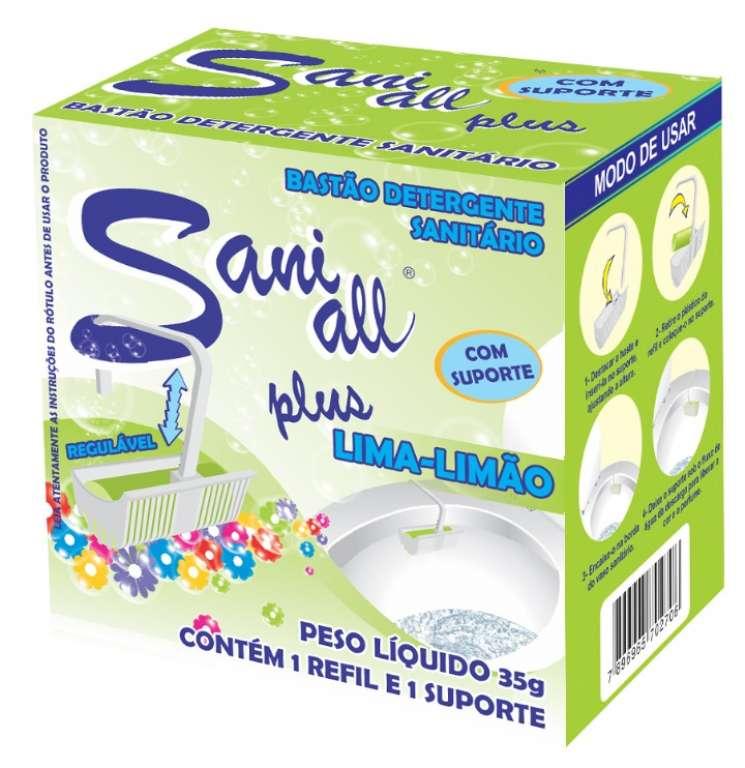ADESUL - BASTAO SANITARIO LIMA/LIMAO C/ SUPORTE 35G - CX.4X12UN