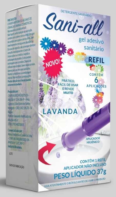 ADESUL - GEL SANITARIO SANI-ALL LAVANDA REFIL - CX.12UN
