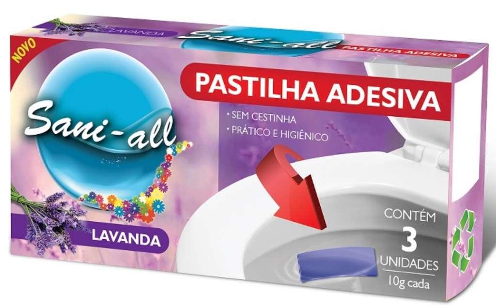 ADESUL - PASTILHA ADESIVA SANI-ALL LAVANDA 10G COM 3 - .CX.24UN