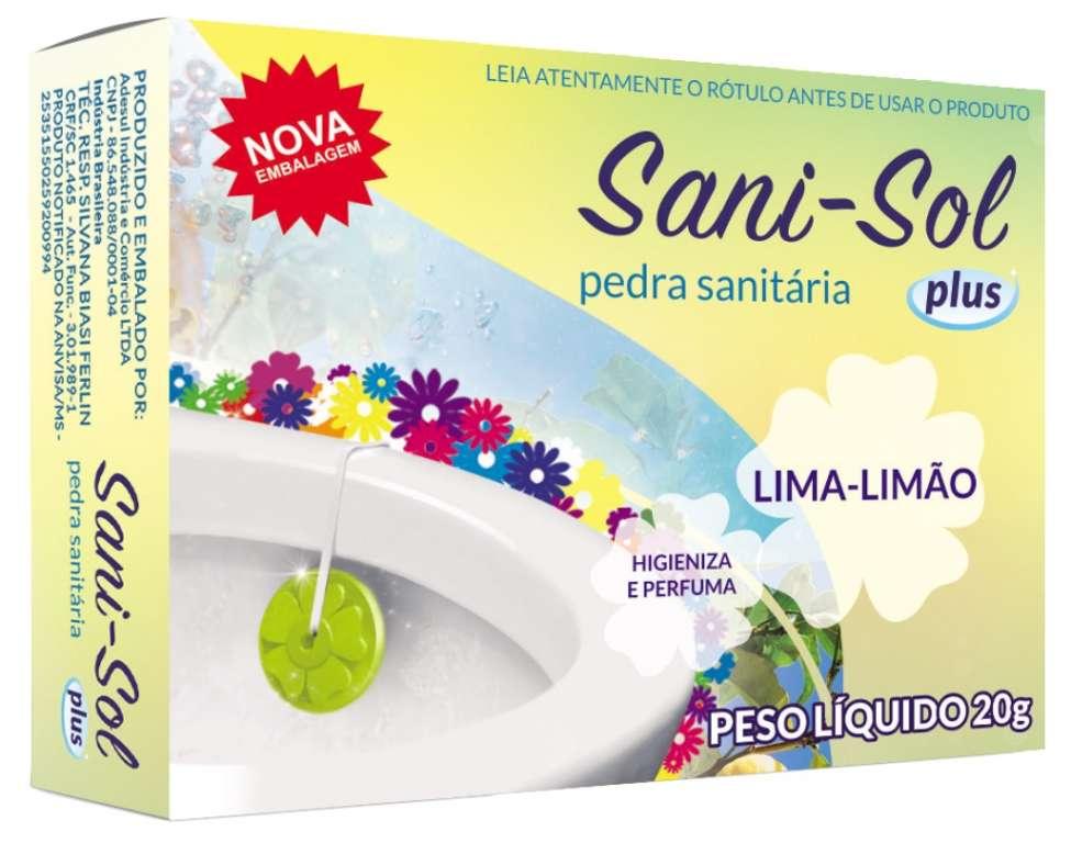 ADESUL - PEDRA SANITARIA SANI-SOL LIMA/LIMAO 20G - PT.12UN