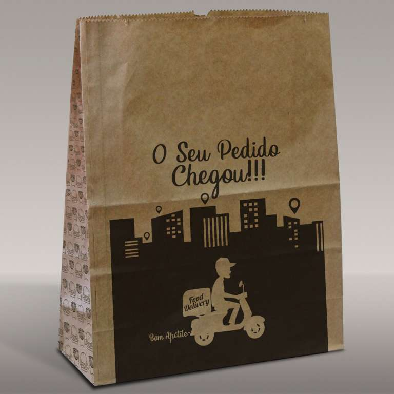 AGENFLEX - SACO DELIVERY SOS  P  23X34X15 KR PADRAO FOOD - UN