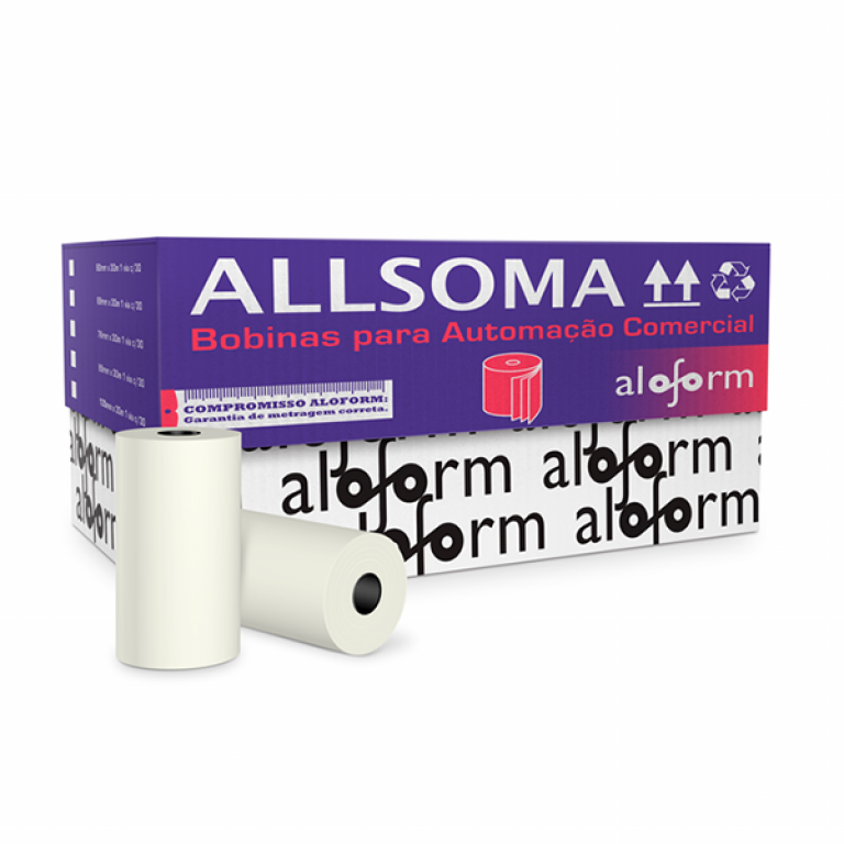 ALOFORM - BOBINA PDV 1VIA 76MM - CX.30UN