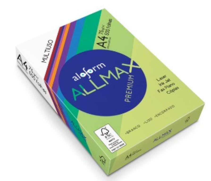 ALOFORM - PAPEL SULFITE A4 ALLMAX PREMIUM 210X297 - CX.05X500UN