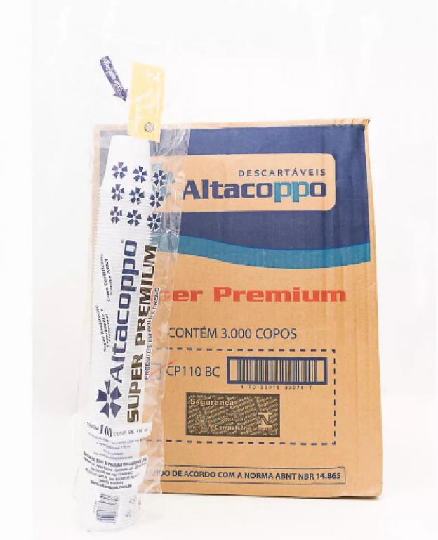 ALTACOPPO - COPO 110ML PREMIUM BRANCO - CX.30X100UN