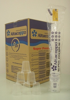 ALTACOPPO - COPO 180ML PREMIUM TRANSPARENTE  - CX.25X100UN