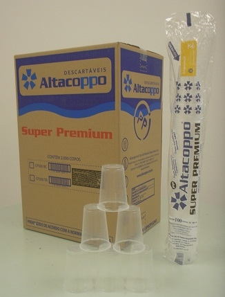 ALTACOPPO - COPO 300ML PREMIUM TRANSPARENTE - CX.20X100UN