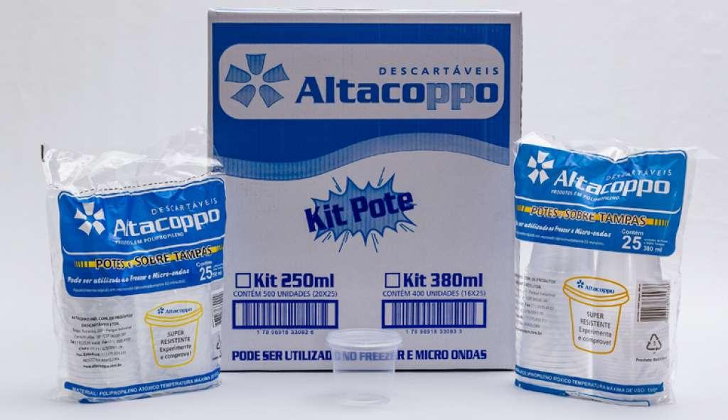 ALTACOPPO - KIT POTE 250ML C/SOBRETAMPA - CX.20X25UN