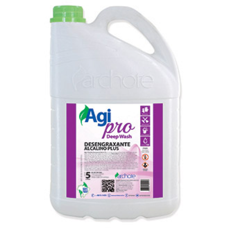 ARCHOTE - AGIPRO DEEP WASH DESENGRAXANTE ALCALINO PLUS 5 LTS - CX.04UN