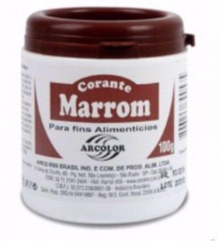 ARCOLOR - CORANTE ARCOLOR 100G MARROM - UN