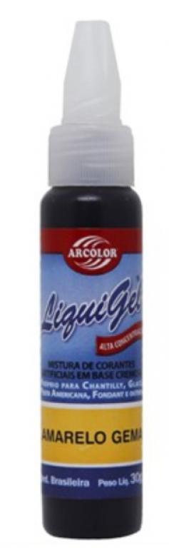 ARCOLOR - CORANTE LIQUIGEL AMARELO GEMA 30G - UN