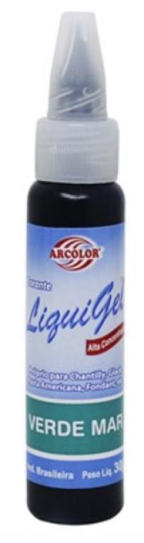ARCOLOR - CORANTE LIQUIGEL VERDE MAR 30G - UN