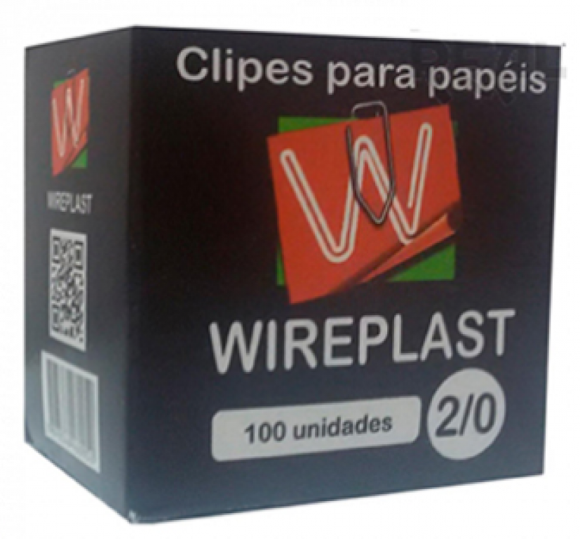 BIGNARDI - CLIPS PAPEL N.2/0 WIREPLAST - CX.100UN