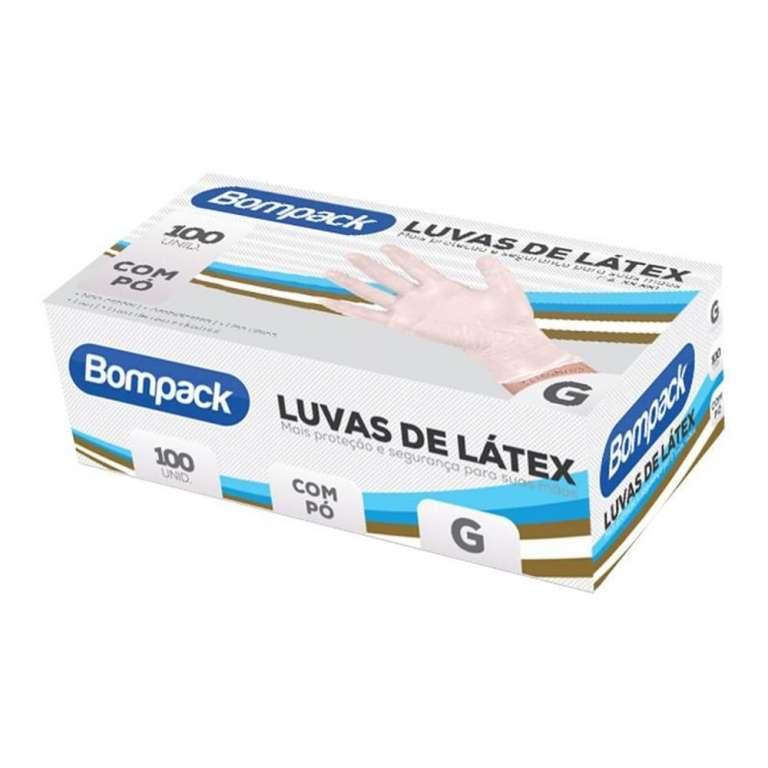 BOMPACK - LUVA LATEX COM PO (G) - CT.100UN