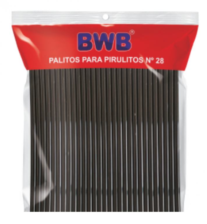 BWB - PALITO PARA PIRULITO GRANDE PRETO (287) - PT.50UN