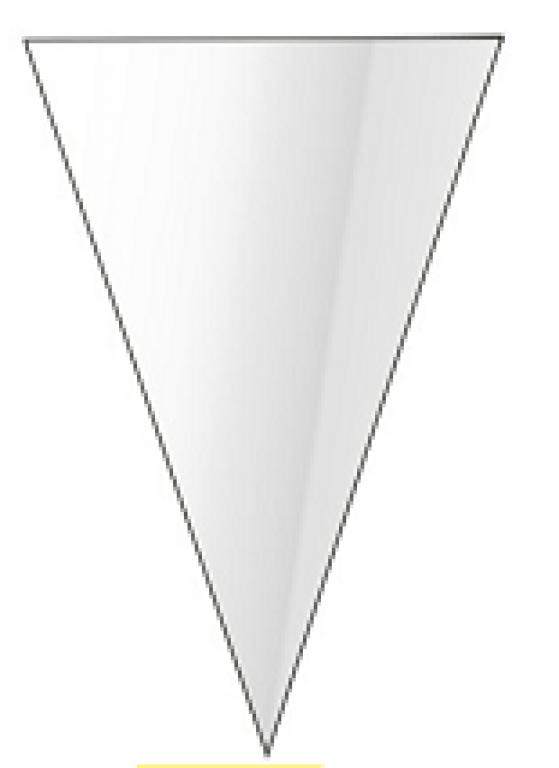 CARBER - CONE INCOLOR 18X30CM - PT.20UN