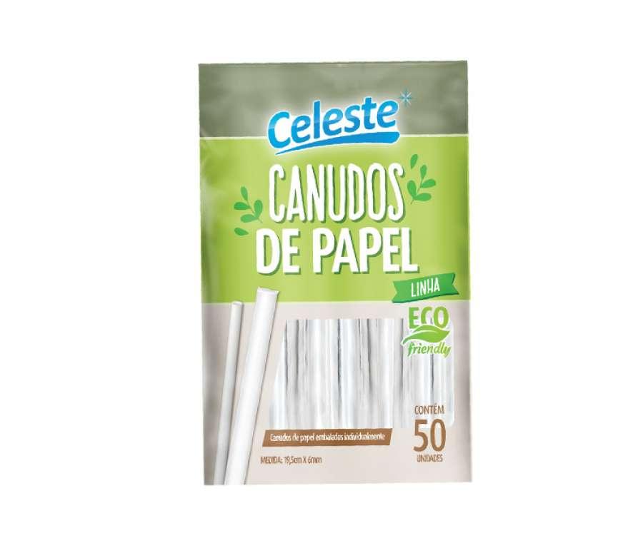 CELESTE - CANUDO DE PAPEL (CLT-200) - PT.50UN
