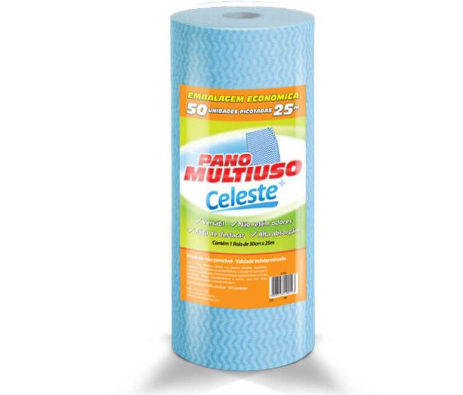 CELESTE - PANOS MULTIUSO AZUL 25MTS (CLT-801) - UN