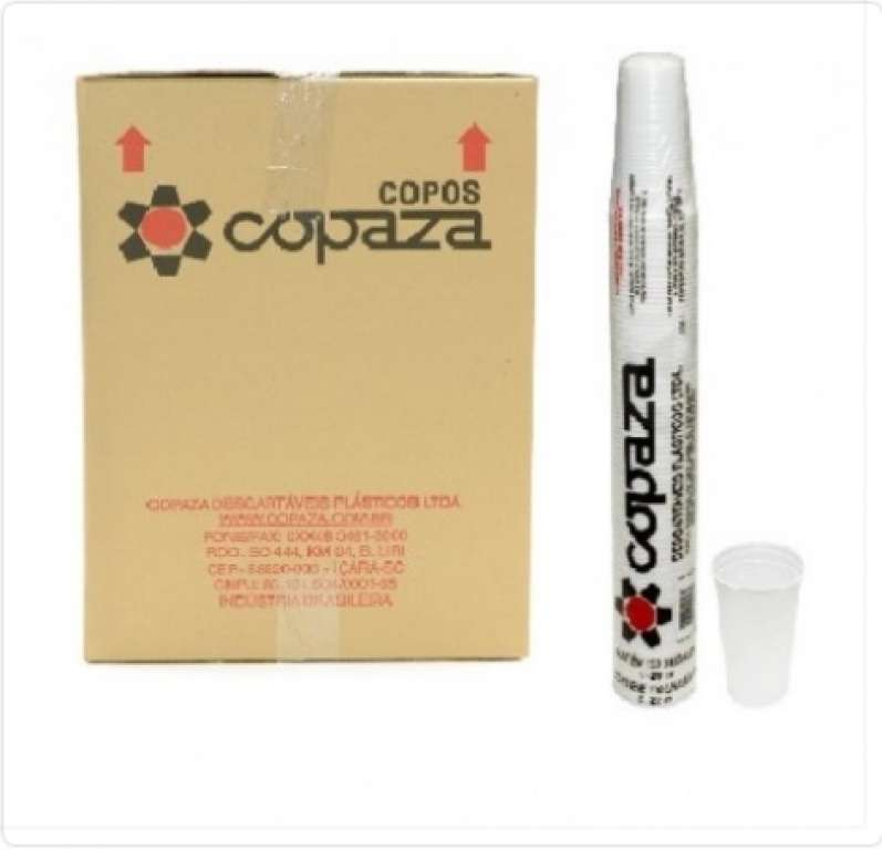 COPAZA - COPO PREMIUM 150 ML BRANCO - CX.30X100UN