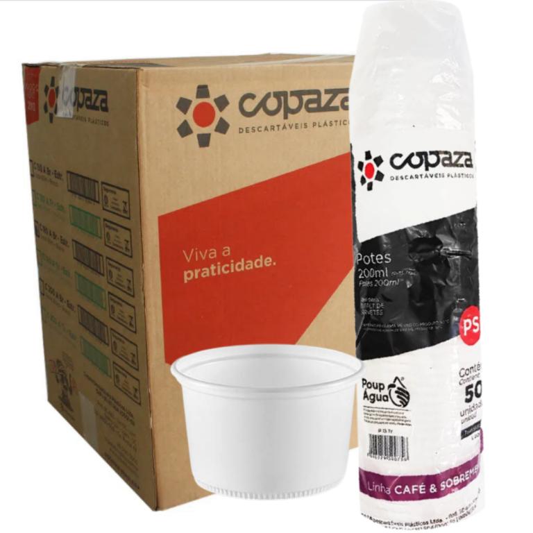 COPAZA - POTE (P-13) 200 ML TRANSPARENTE - CX.20X50UN