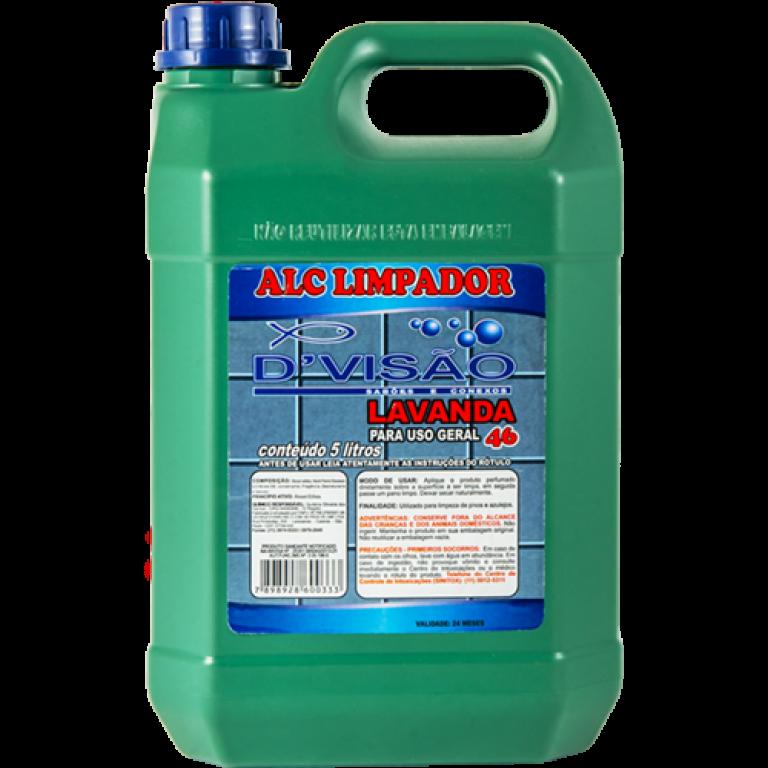 DIVISAO - ALCOOL LIMPADOR 46 LAVANDA 05 LTS - UN