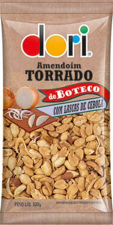 DORI - AMENDOIM TORRADO LASCAS DE CEBOLA 320G - UN