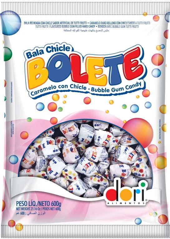 DORI - BOLETE BALA DURA RECH TUTTI FRUT 600GR - CX.30UN