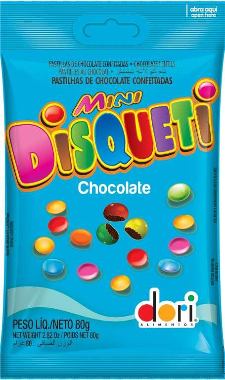 DORI - DISQUETI CONFETE CHOCOLATE AO LEITE 80GR - UN