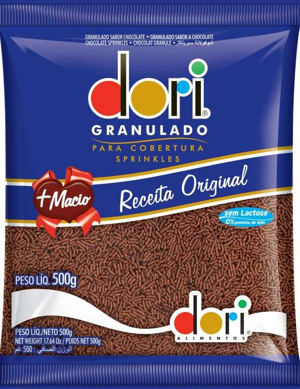 DORI - GRANULADO CHOCOLATE DORI 500GR - CX.16UN