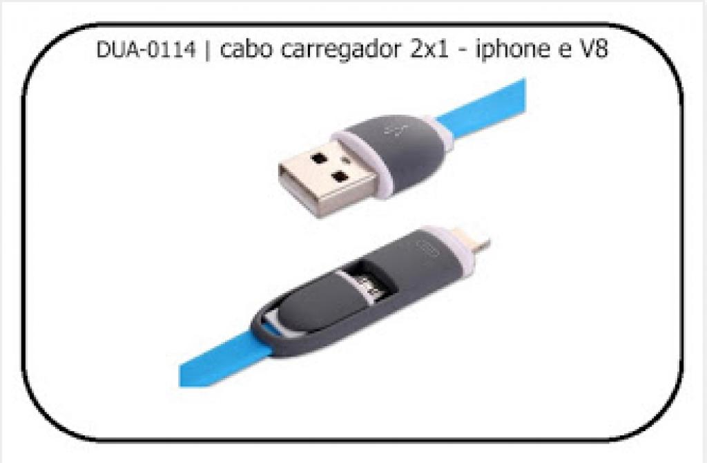 ELEGANTEC - CABO USB C/ DUAS FUNCOES IPHONE E V8