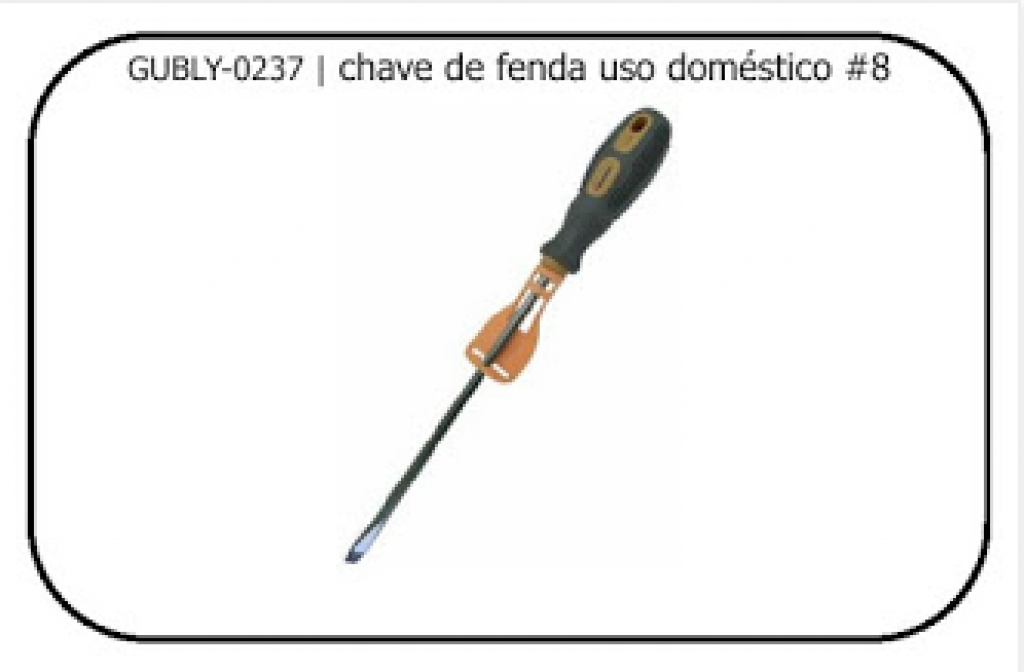 ELEGANTEC - CHAVE DE FENDA N.08 C/ PONTA IMANTADA E CABO EMBORRACHADO