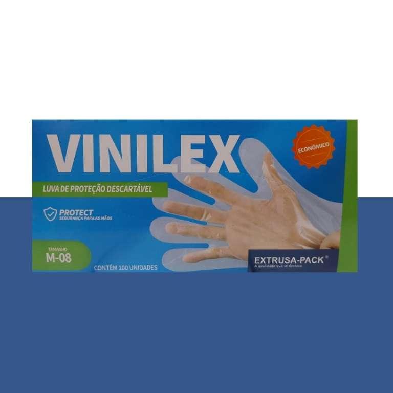 EXPK - LUVA VINILEX (M) - CX.20X100UN