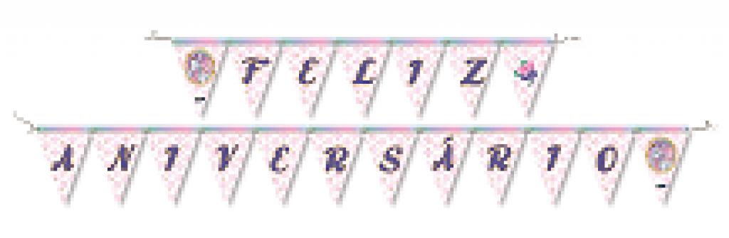 FESTCOLOR - FAIXA FELIZ ANIVERSARIO UNICORNIO - CX.12X01UN