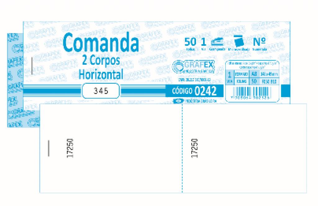 GRAFEX - COMANDA 2 CORPOS HORIZONTAL F050 B10 NUMERADA - PT.10BLS