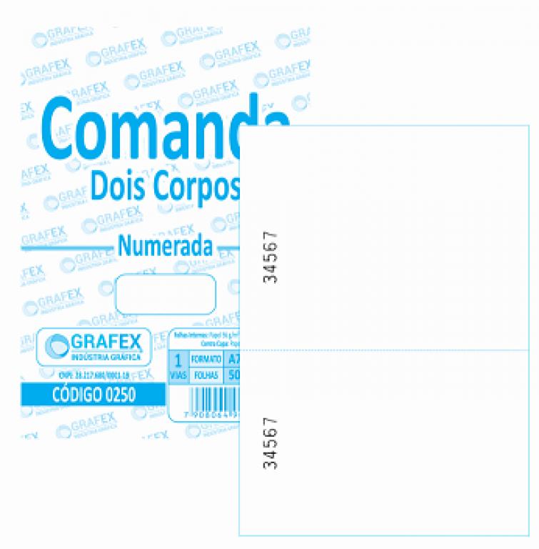 GRAFEX - COMANDA 2 CORPOS VERTICAL F050 NUMERADA - PT.10BLS