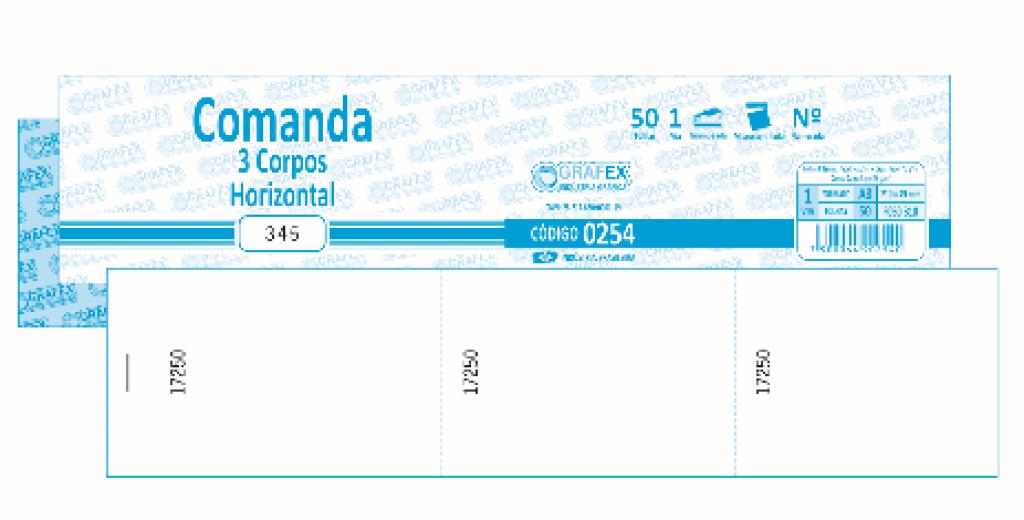 GRAFEX - COMANDA 3 CORPOS HORIZONTAL F050 B10 NUMERADA - PT.10 BLS