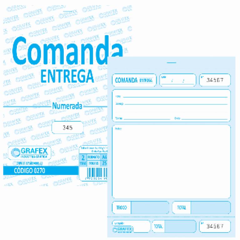 GRAFEX - COMANDA ENTREGA NUMERADA F050 - PT.10BLS