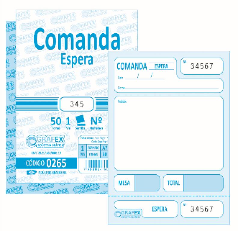 GRAFEX - COMANDA ESPERA F050 NUMERADA - PT.10BLS