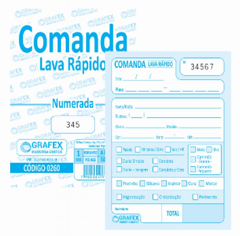 GRAFEX - COMANDA LAVA RAPIDO NUMERADA F050 - PT.10BLS