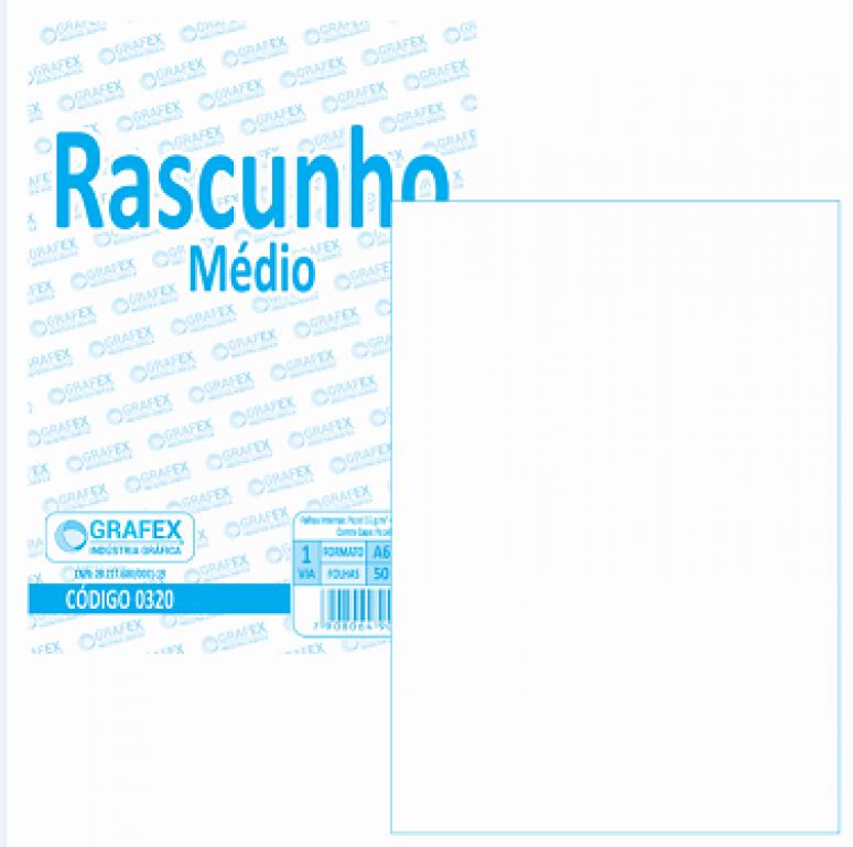 GRAFEX - RASCUNHO MEDIO F050 - PT.10BLS