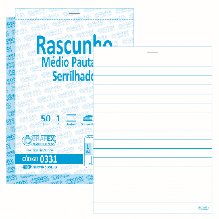 GRAFEX - RASCUNHO MEDIO PAUTADO F050 SERRILHADO - PT.10 BLS
