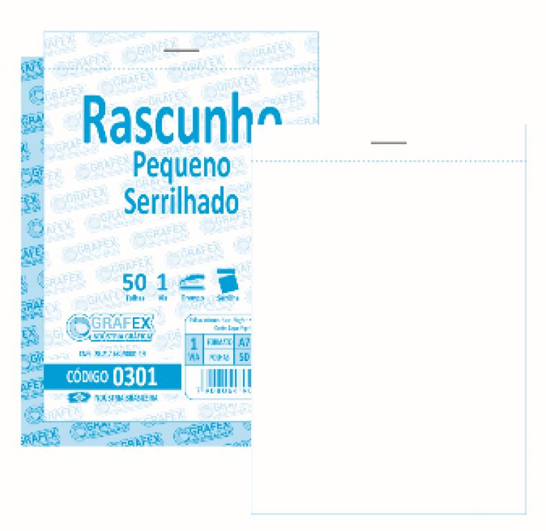 GRAFEX - RASCUNHO PEQUENO F050 SERRILHADO - PT.10 BLS