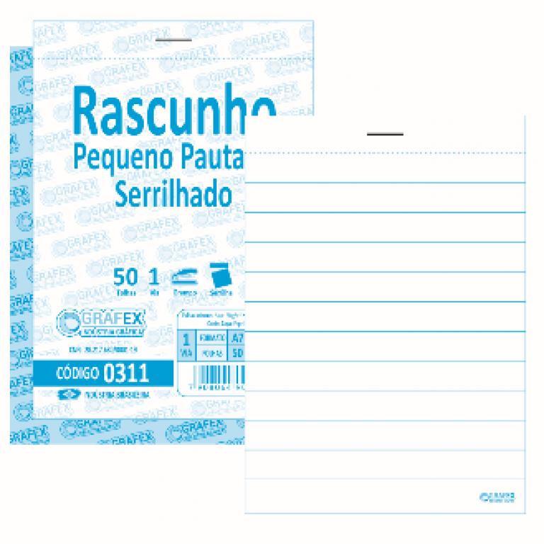 GRAFEX - RASCUNHO PEQUENO PAUTADA F050 SERRILHADO - PT.10 BLS