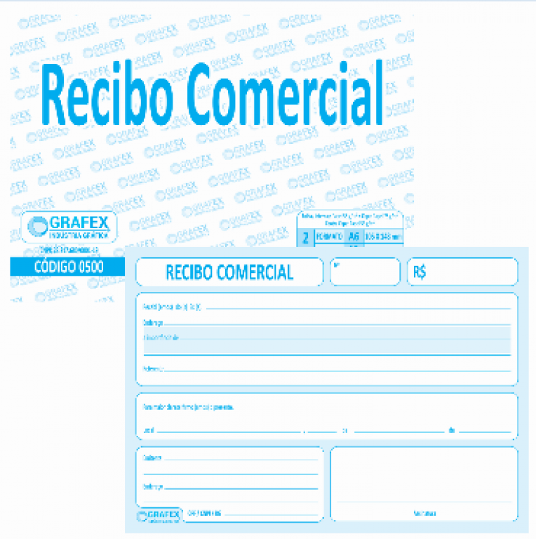 GRAFEX - RECIBO COMERCIAL F050 - PT.10BLS