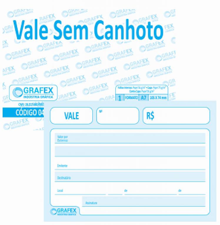 GRAFEX - VALE SEM CANHOTO SULFITE F050 - PT.10BLS