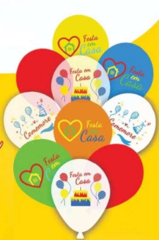 HAPPY DAY - KIT BALAO 11 FESTA EM CASA SORTIDO - PT.10UN