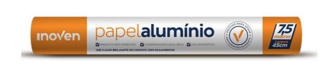 INOVEN - ROLO ALUMINIO 45CM X 7,5M  - UN